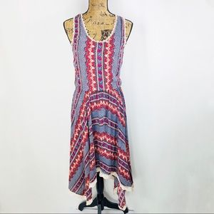 Lola P. Handkerchief Dress Boho Style Sleeveless
